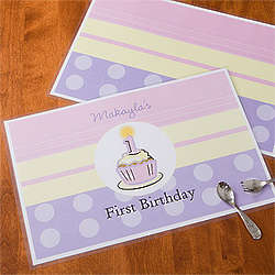 Personalized First Birthday Girl Placemat
