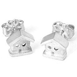 Tiny House Stud Earrings