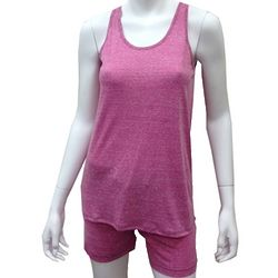 Rose Marl Tank and Shorts Lounge PJ Set