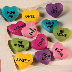 Conversation Heart Stones