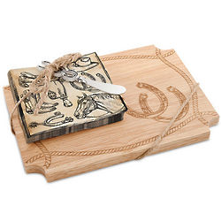 Cheyenne Wood Cutting Board Gift Set