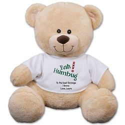 Personalized Bah Humbug Teddy Bear