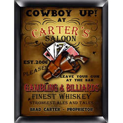 Saloon Personalized Pub Sign