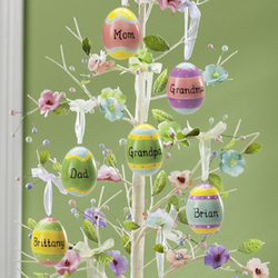 Personalized Ceramic Easter Egg Ornament