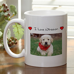 I Love My Pet Photo Coffee Mug