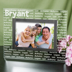 Family Name Personalized Glass Picture Frame