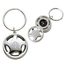 Personalized Wheel Clock and Key Chain