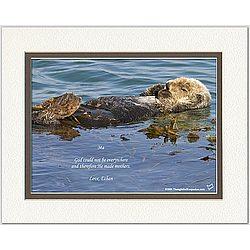 Mom/Like-a-Mom Poem Sea Otter Print