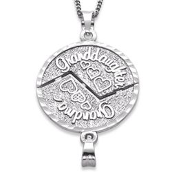 Sterling Silver Grandma and Granddaughter Share-Able Pendant