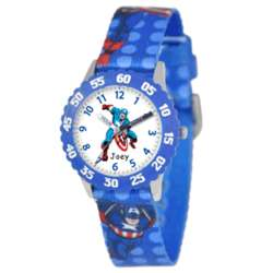 Personalized Kid's Stainless Steel Captain America Watch