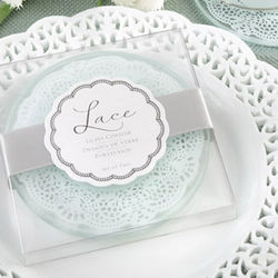 Glass Wedding Coaster Favor