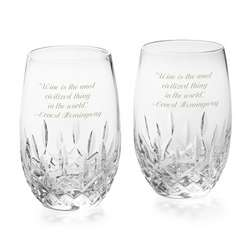 Lismore Nouveau Stemless White Wine Glasses