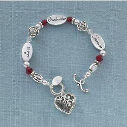 Personalized Grandmother Sentiment Bracelet