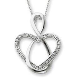 Lifetime Friend Sterling Silver Pendant with CZ Accents