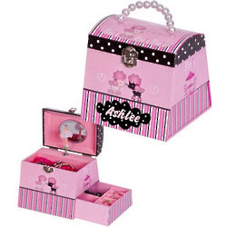 Poodles and Ballerina Jewelry Box