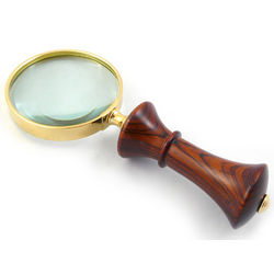 Hand-Turned Exotic Wood Magnifying Glass