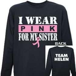 I Wear Pink Breast Cancer Long Sleeve Shirt