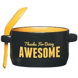 Thanks for Being Awesome Soup Mug and Spoon