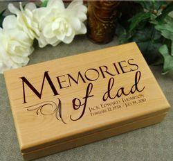 Memories of Dad Personalized Sympathy Keepsake Box