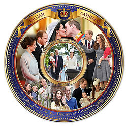 William and Catherine Royal Wedding 5th Anniversary Plate