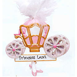 Personalized Princess Carraige Christmas Ornament