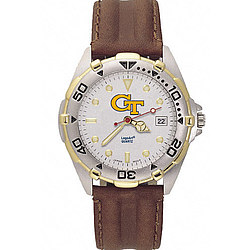 Georgia Tech Yellow Jackets Men's All Star Leather Watch
