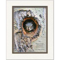Mom/Like-a-Mom Poem Baby Squirrel Print