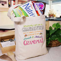Anybody Can Be a Grandmother Personalized Canvas Tote