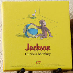 Curious George Personalized Canvas Art