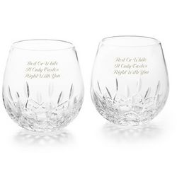 Lismore Nouveau Stemless Red Wine Glasses