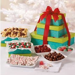 Mistletoe Christmas Candy Gift Tower