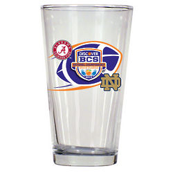 Notre Dame Fighting Irish vs. Alabama Crimson Tide Pint Glass