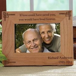 Never Forgotten 4x6 Personalized Memorial Frame