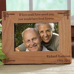 Never Forgotten 4x6 Personalized Memorial Frame