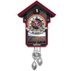 San Francisco 49ers Tribute Cuckoo Clock