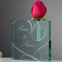 Couple in Love Personalized Bud Vase
