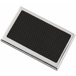 Carbon Top Personalized Business Card Case