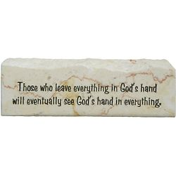 Leave Everything in God's Hand Promise Stone