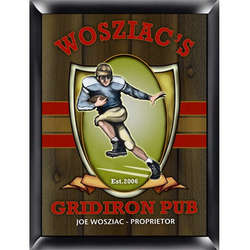 Gridiron Design Personalized Pub Sign