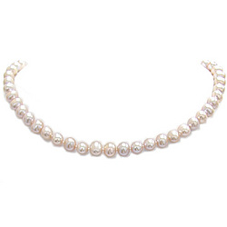 Fresh Water Pearl Necklace in 14K White Gold