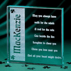 Irish Blessing Glass Block