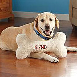 Personalized Dog Bone Pillow