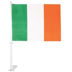 Irish Flag Car Window Set