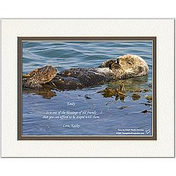 Friendship Poem Personalized Sea Otter Print