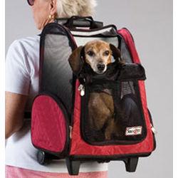Red Medium Roll Around Dog Carrier