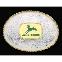 John Deere Silversmiths Belt Buckle