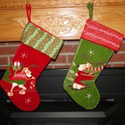 Playful Plush Moose Personalized Christmas Stockings