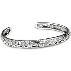 Silver Rodeo Stamped Cuff Bracelet