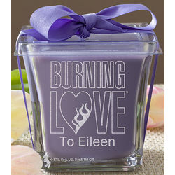 Burning Love Lavender and Linen Personalized Elvis Candle
