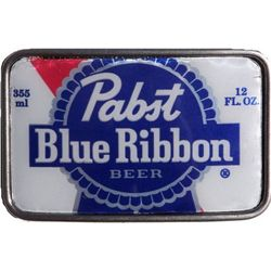 Pabst Blue Ribbon Beer Can Metal Belt Buckle